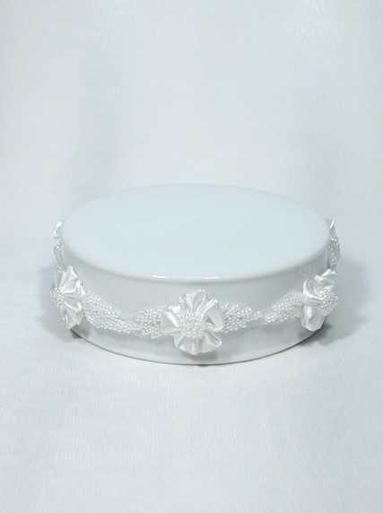 345 Beaded Ribbons Porcelain Ornament Base Weddings