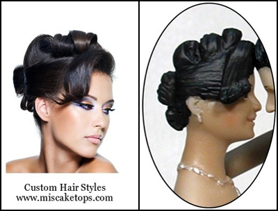 Personalized Custom Stylized Updo Hairstyle Bride