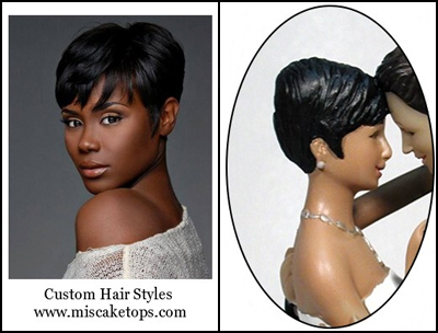 Personalized Custom Stylized Short Hairstyle Bride