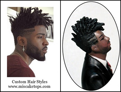 Personalized Custom Stylized Short Hairstyle Dreadlocks Groom