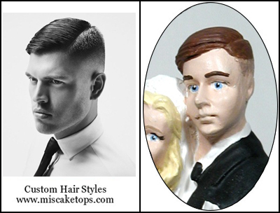 Personalized Custom Stylized Short Crew Cut Hairstyle Groom