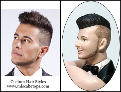 Personalized Custom Stylized Short Mohawk Hairstyle Groom
