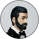 Texturized Bushy Full Beard with Mustache Facial Hair Groom Wedding Cake Top