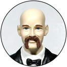 Texturized Bushy Mustache Facial Hair Groom Wedding Cake Top