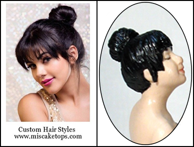 Personalized Custom Stylized Bun Updo Hairstyle Bride