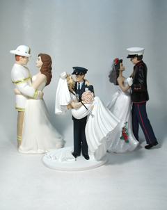 Police firefighter wedding
