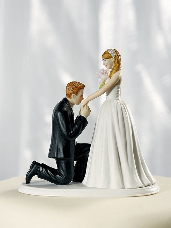 Will You Marry Me Bride and Groom Wedding Cake Top
