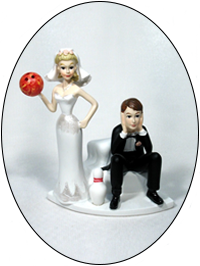Bowling Ball and Bowling Pin Bride and Groom