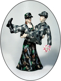 Camoflauge Hunter Uniform Bride and Groom