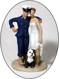Custom Color Pet Attendant for Bride and Groom Cake Topper