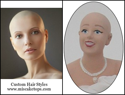 Bald Bride Alopecia Personalized Custom Stylized Hairstyle