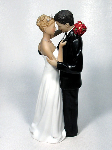 Love's Caress Bride Groom Wedding Cake Topper
