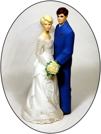 Custom Color Work Jumpsuit Groom Wedding Cake Topper