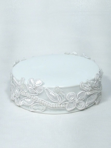 357 Embroidered Flowers Porcelain Base Weddings