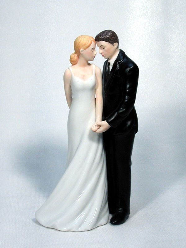 Wedded Bliss Bride and Groom Wedding Cake Top